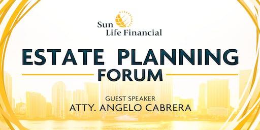 Estate Planning Forum with Atty. Angelo Cabrera