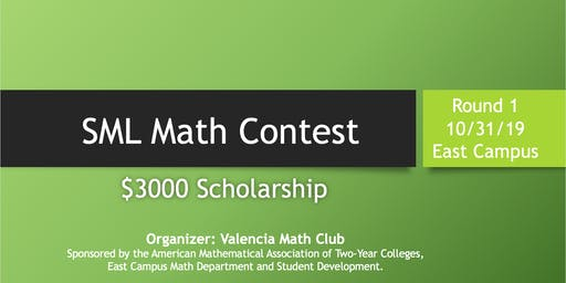 SML Math Contest - $3000 Scholarship (East Campus): Round 1