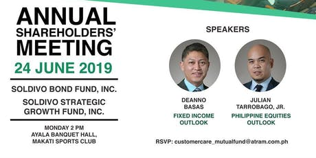 Soldivo Funds Annual Shareholders' Meeting 2019 tickets