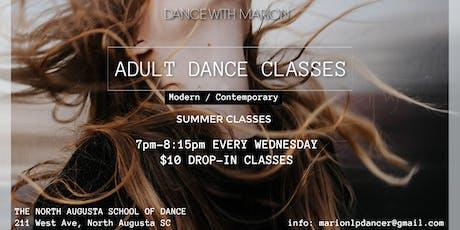 Summer Adult Modern/Contemporary dance class tickets