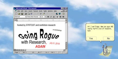 WORKSHOP: Going Rogue with Research, AGAIN tickets