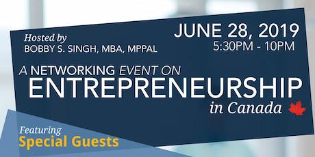 Entrepreneurship in Canada tickets