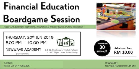 Financial Education Boardgame Session (20th Jun) tickets