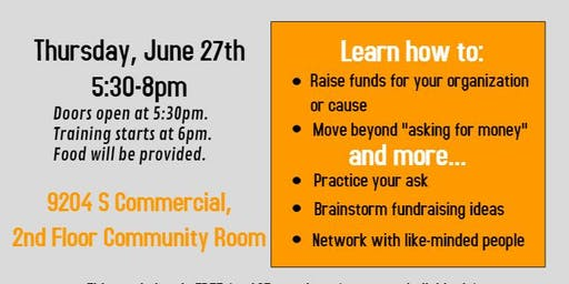 Grassroots Fundraising Workshop: Raise money for your organization or cause