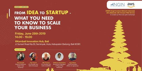 "From Idea to Startup – ""What you need to know to scale your business"" tickets"