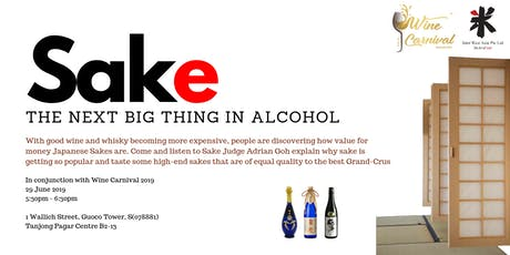 Sake - The Next Big Thing in Alcohol tickets