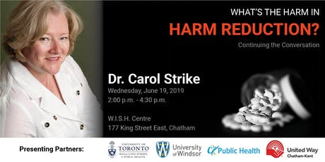 What's the Harm in Harm Reduction - Continuing the Conversation tickets