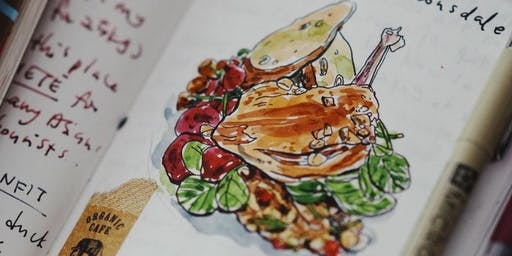 Journaling Festival 2019: Workshop - Food Journaling with Watercolor by Szetoo Weiwen