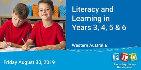 Literacy and Learning in Years 3 to 6 August 2019 tickets