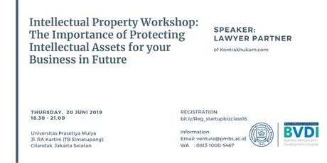 Legal Workshop:  Protecting Intellectual Property of Your Business tickets