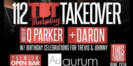 ThrowBack Thursdays at Aurum Lounge w/ $10 premium Open Bar tickets