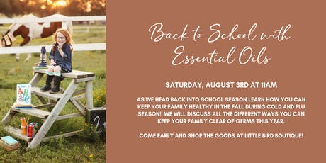 Back to School with Essential Oils! tickets