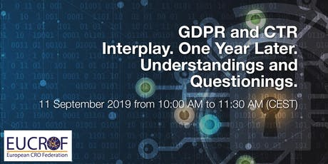 GDPR and CTR Interplay. One Year Later. Understandings and Questionings. tickets