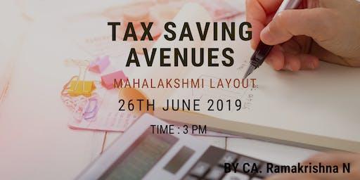Tax Saving Avenues