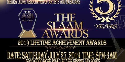 SLAAM 5th Lifetime Awards July 27, 2019