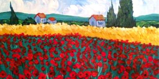'Poppies à la Van Gogh' Sip & Paint Workshop