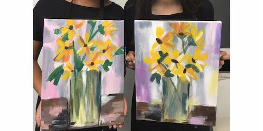'Yellow Flowers' Sip & Paint Workshop