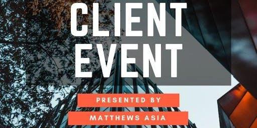 Matthews Asia Client Event - September 2019