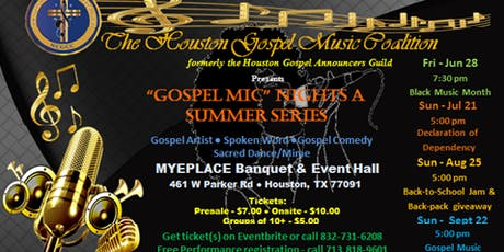 """Gospel Mic"" Nights - A Summer Series tickets"