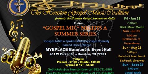 """""""Gospel Mic"""" Nights - A Summer Series"""