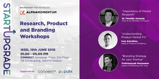 Research, Product and Branding Workshop | StartUpg