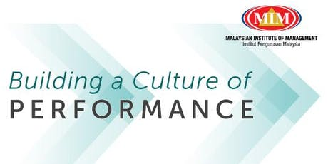Building A Culture of Performance tickets
