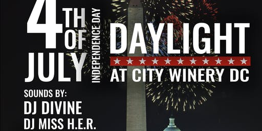 Daylight 4th of July Rooftop Fireworks Party @ City Winery DC