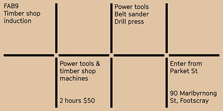 FAB9 safety induction: Timber shop - Power tools tickets