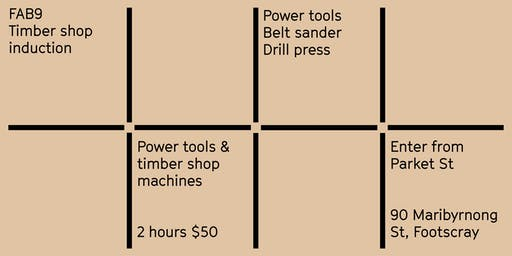 FAB9 safety induction: Timber shop - Power tools