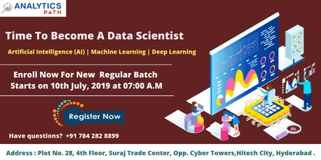 Time To Register For Data Science Training New Regular Batch By Experts From IIT & IIM, Analytics Path From 10th July, 7 AM, Hyderabad tickets