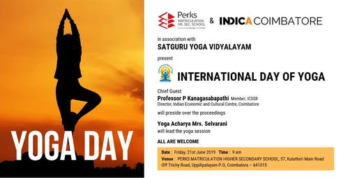 Indica Coimbatore presents International day of Yoga