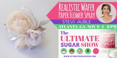 Realistic Wafer Paper Flower Spray with Stevi Auble