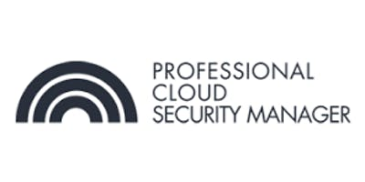 CCC-Professional Cloud Security Manager 3 Days Virtual Live Training in Brisbane