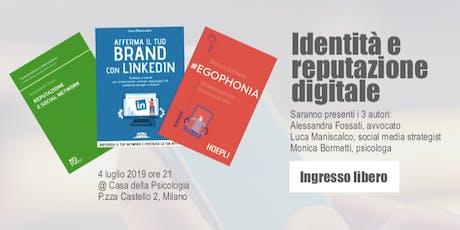 Identità e reputazione digitale | Presentazione libri tickets