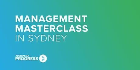 2020 Sydney Management Masterclass tickets