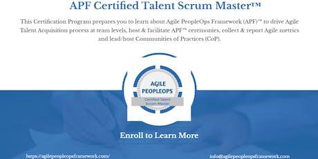 Agile PeopleOps Framework Certified Talent Scrum Master (APF CTSM)™| Trenton, NJ | August 28, 2019 tickets