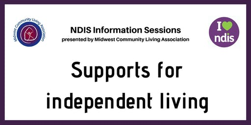 NDIS Info Session - Support for Independent Living