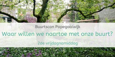 Buurtscan Papegaaiwijk- 2de sessie: Waar willen we naartoe met onze buurt? biglietti