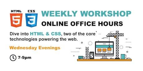 HTML & CSS - ONLINE OFFICE HOURS - Starter tickets