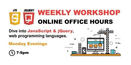 JavaScript & jQuery - ONLINE OFFICE HOURS - Premium tickets