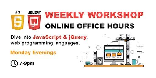 JavaScript & jQuery - ONLINE OFFICE HOURS - Premium
