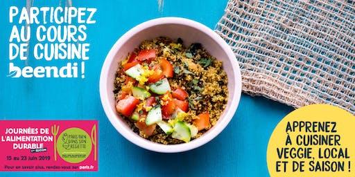 Apprenez à cuisiner veggie, de saison et local avec beendi !