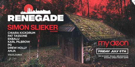 Renegade XV ft. Simon Slieker tickets