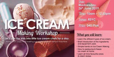 Ice Cream Making Workshop tickets