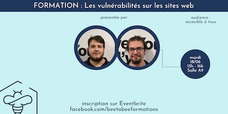 Vulnérabilités des sites web billets