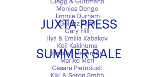 Juxta Press | Summer Sale & Open Day