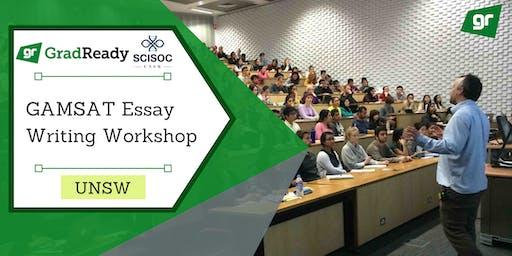 GAMSAT Essay Writing Workshop (UNSW) | GradReady & UNSW Science Society