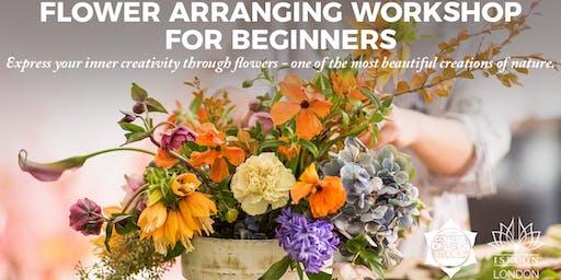 FLOWER ARRANGING WORKSHOP FOR BEGINNERS