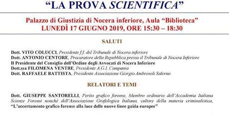 """Seminario sul tema """"La prova scientifica"""". biglietti"""