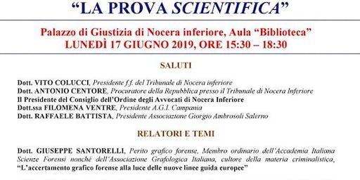 """Seminario sul tema """"La prova scientifica""""."""